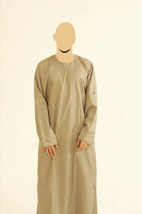 Ibiza Side Zip Khaki Jubba