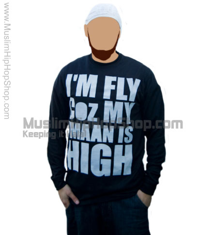 Im Fly Coz My Iman Is High Full Sleeve T shirts