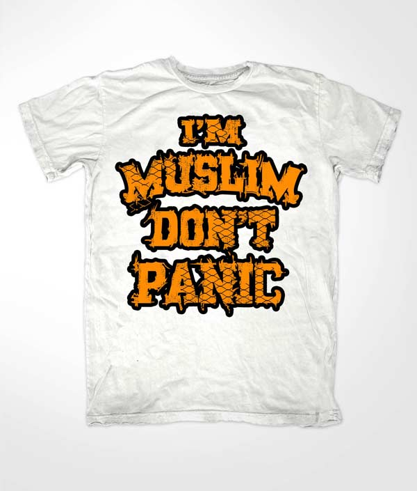 Im Muslim Dont Panic Orange on White