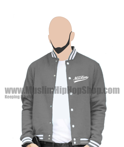 Islamic baseball jacket Dark Gray