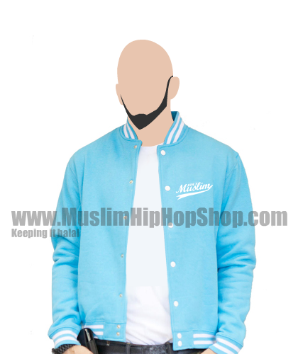 Islamic baseball jacket blue