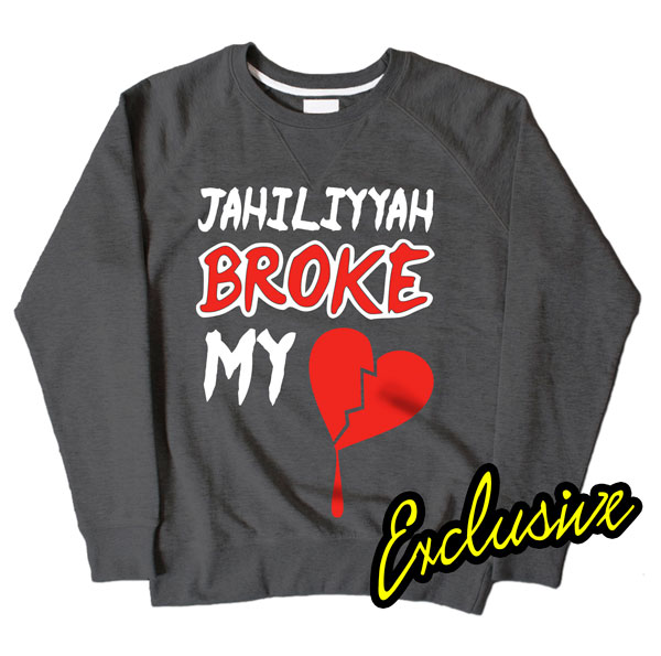 Jahiliyyah Broke My Heart Dark Grey Sweatshirt