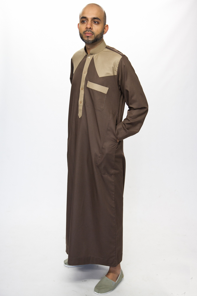 Juyubsh Brown Mens Jubba