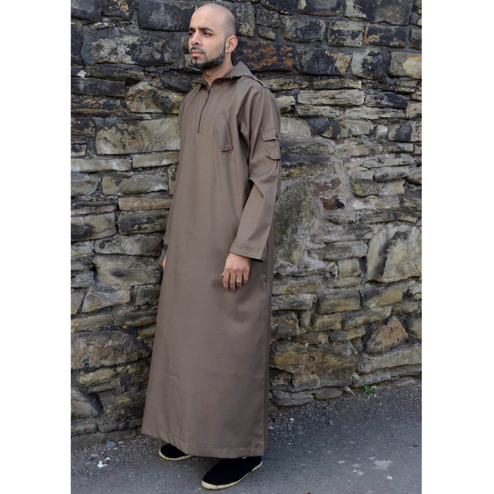 Khaki Urban Hooded Jubba