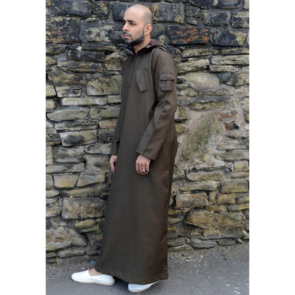 Light Brown Urban Hooded Jubba