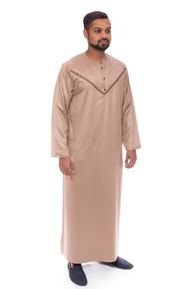 Rosy Brown Emirati New Mens Jubba