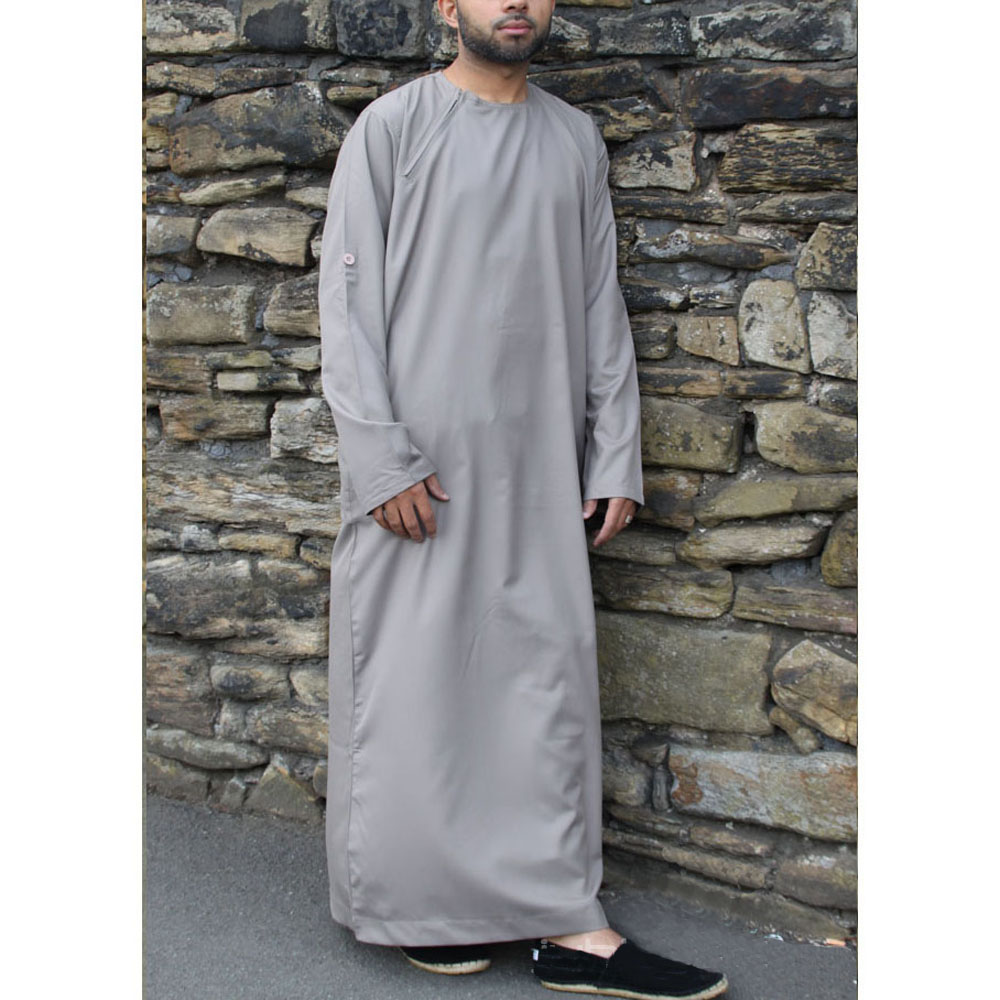 Light Grey Roll Down Islamic Jubba