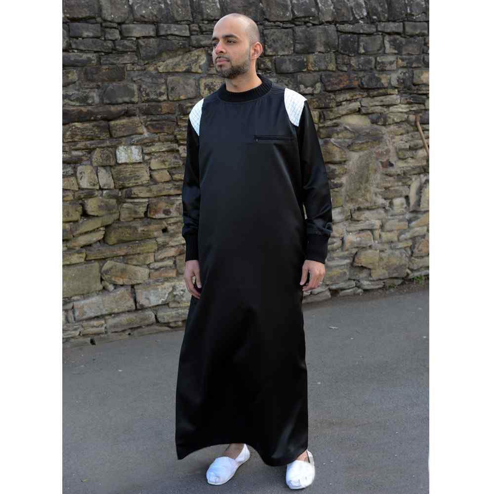 Mens Arm Patch Black White Jubba