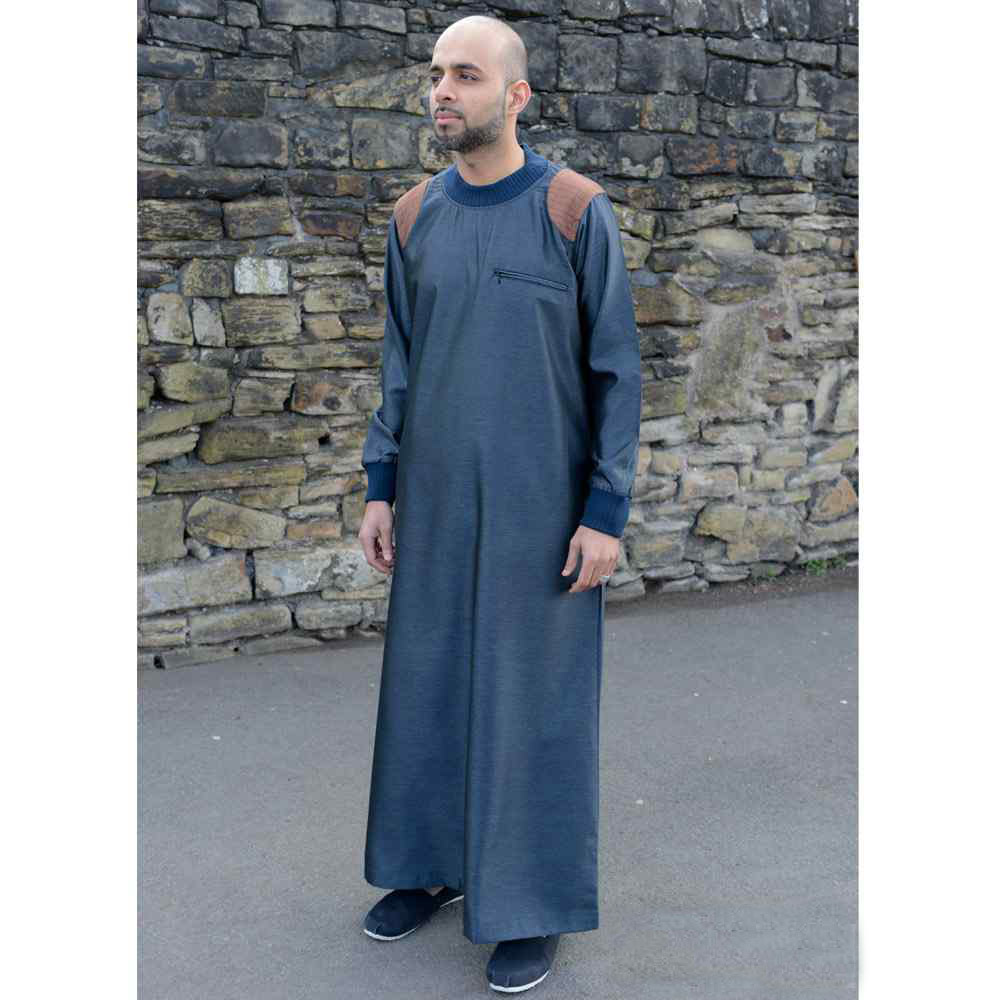 Mens Arm Patch Blue Brown Jubba