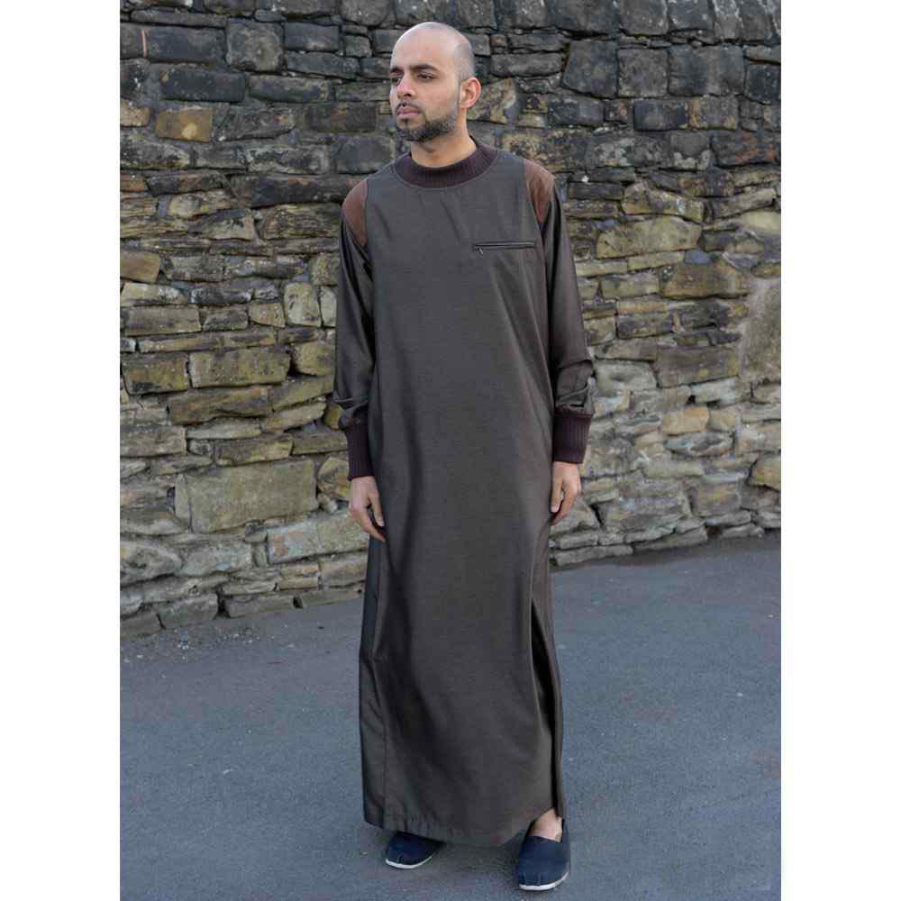Mens Arm Patch Brown Jubba