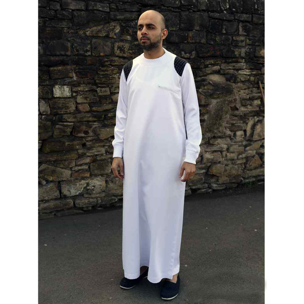 Mens Arm Patch White Black Jubba