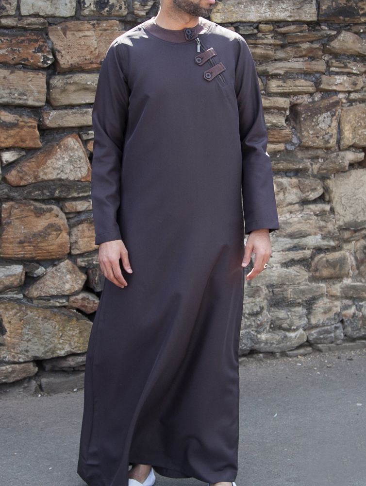 Mens Brown Loop Zip Jubba