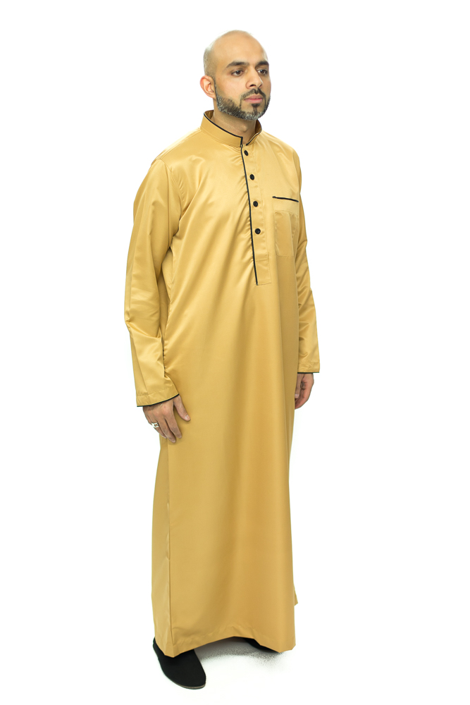 Gold New Mens Pipping Jubba