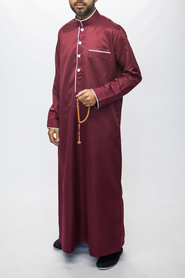 Mens Pipping Red Jubba