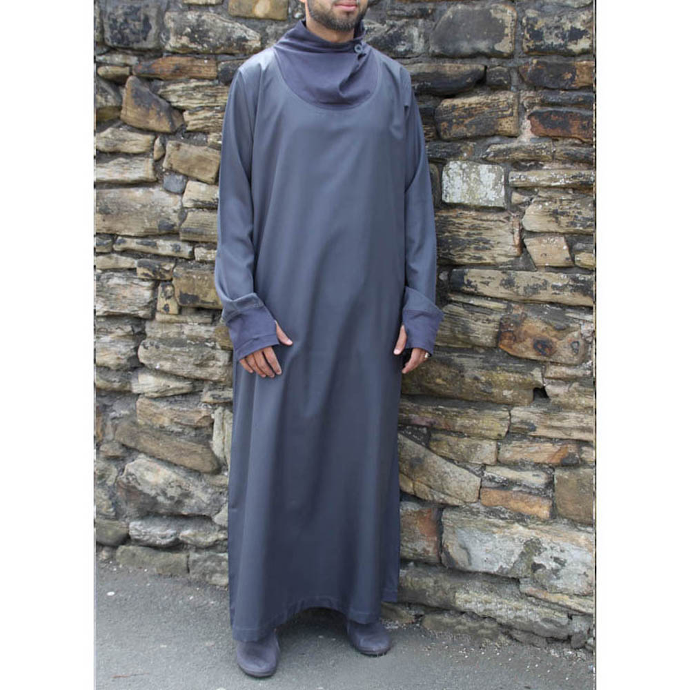 Navy Blue Cowell Neck Jubba