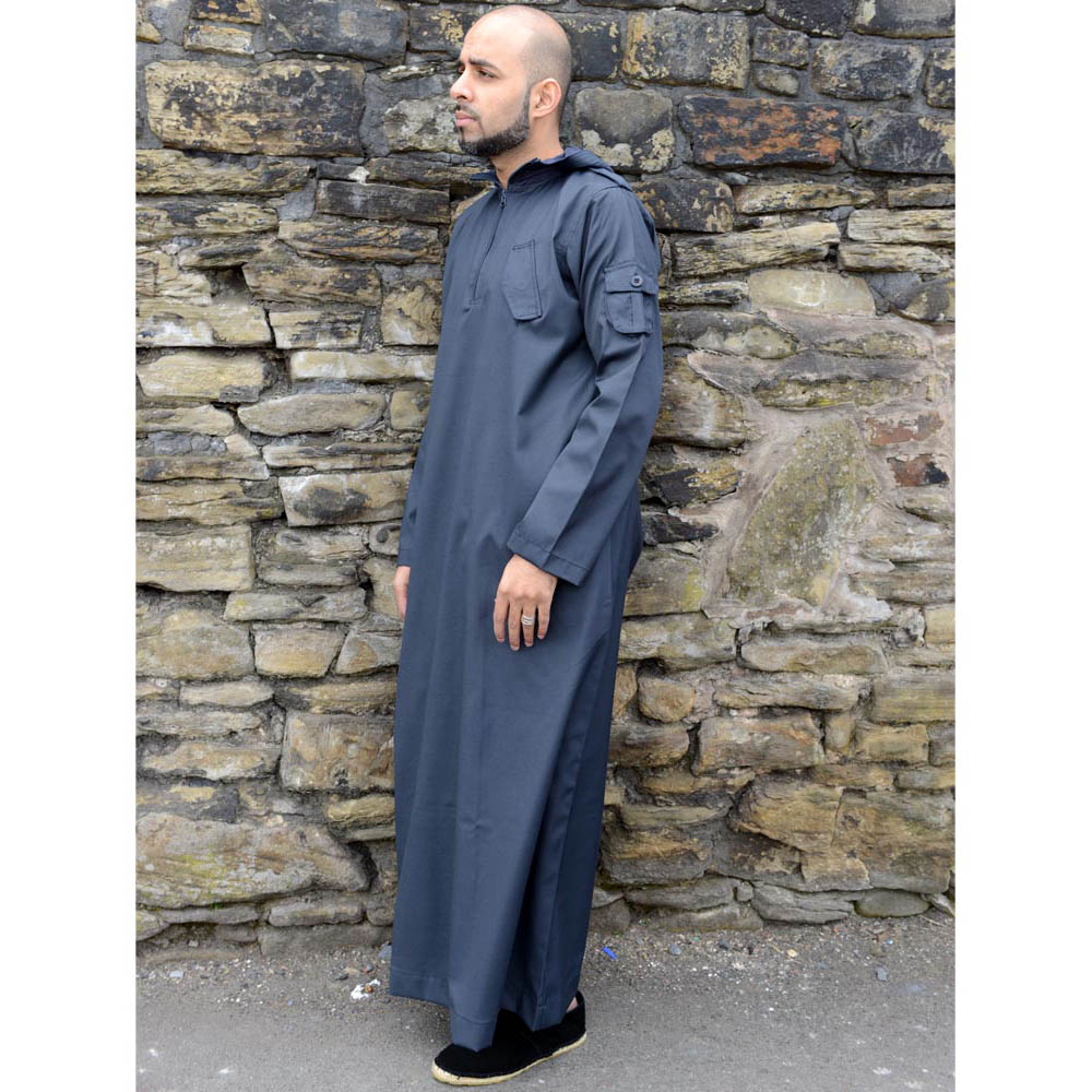 Navy Blue Urban Hooded Jubba