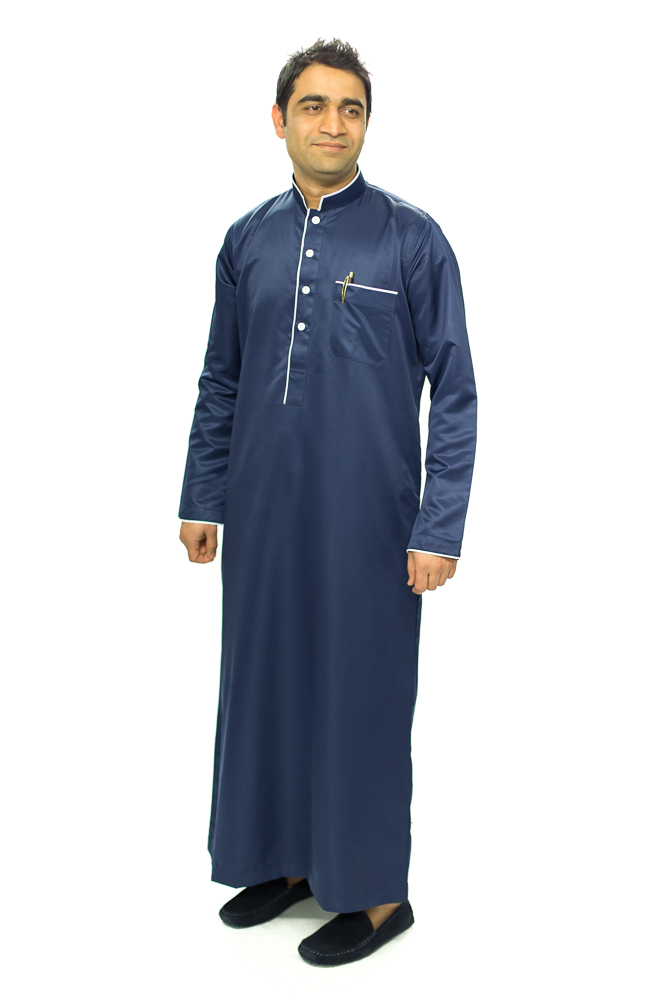 Nevy Blue New Mens Pipping Jubba