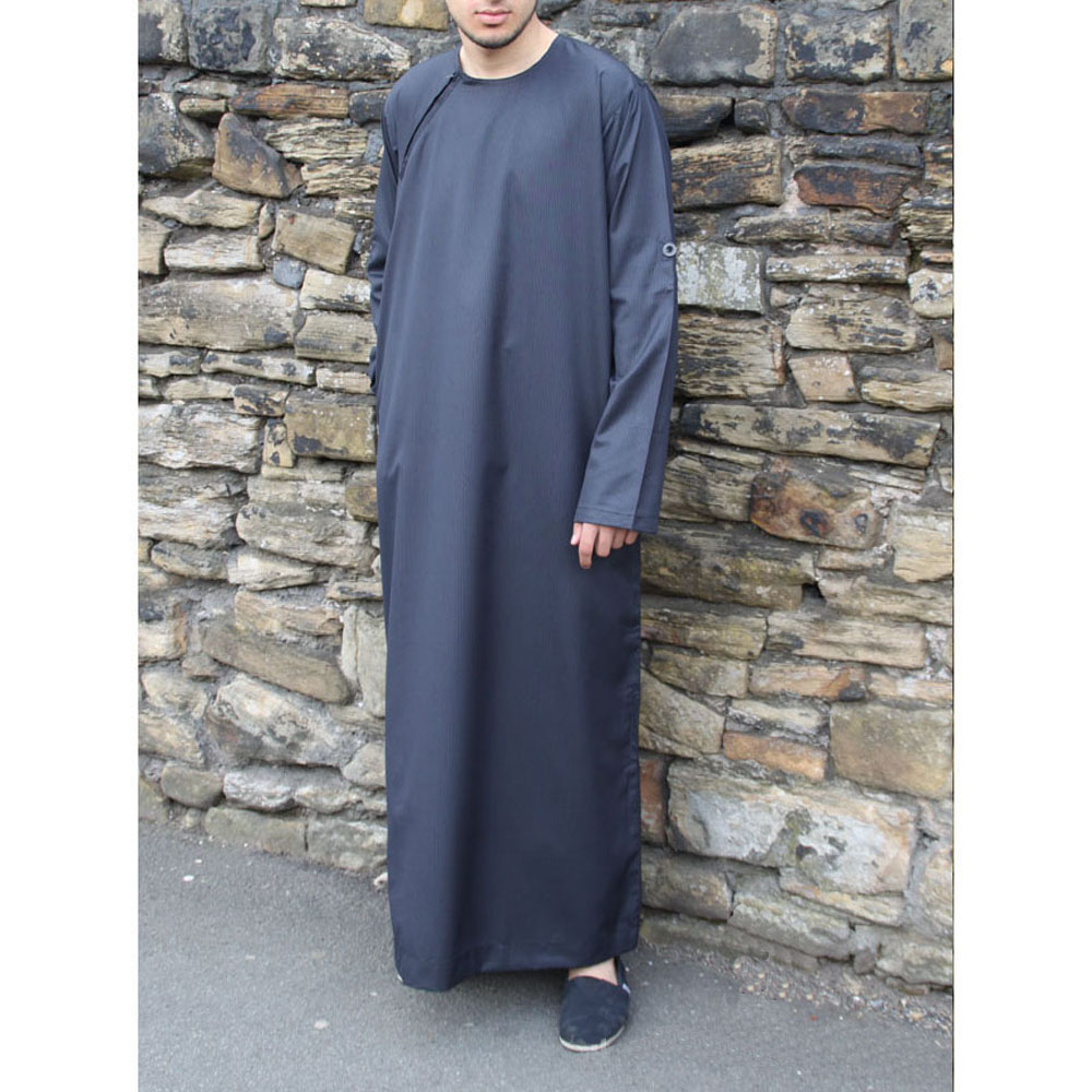 Navy Blue Roll Down Islamic Jubba