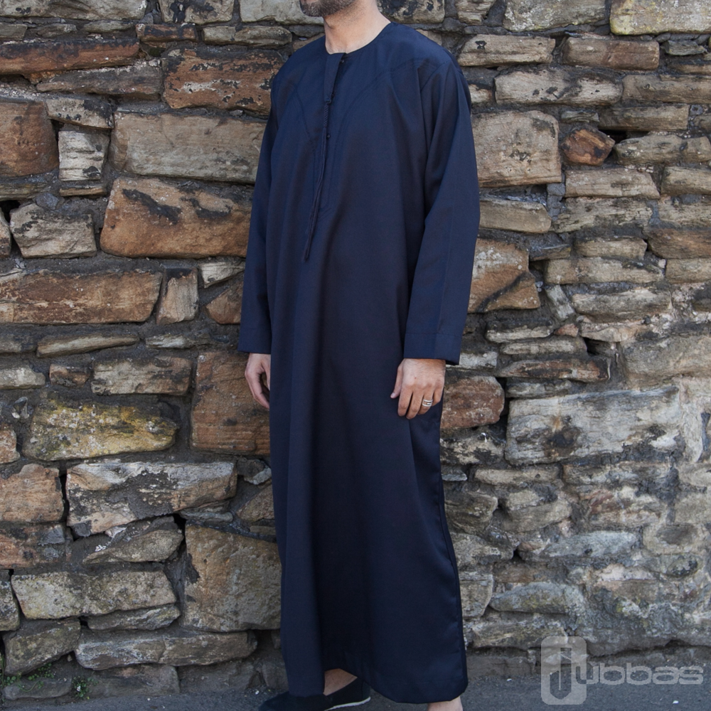 Mens Omani Winter Jubba Nevy Blue