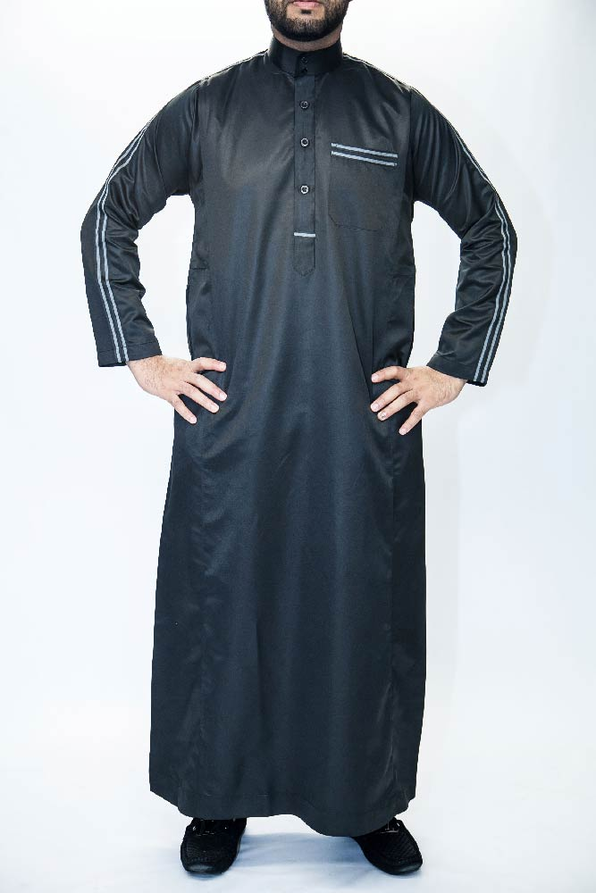 New Black Jersey Muslim Jubba
