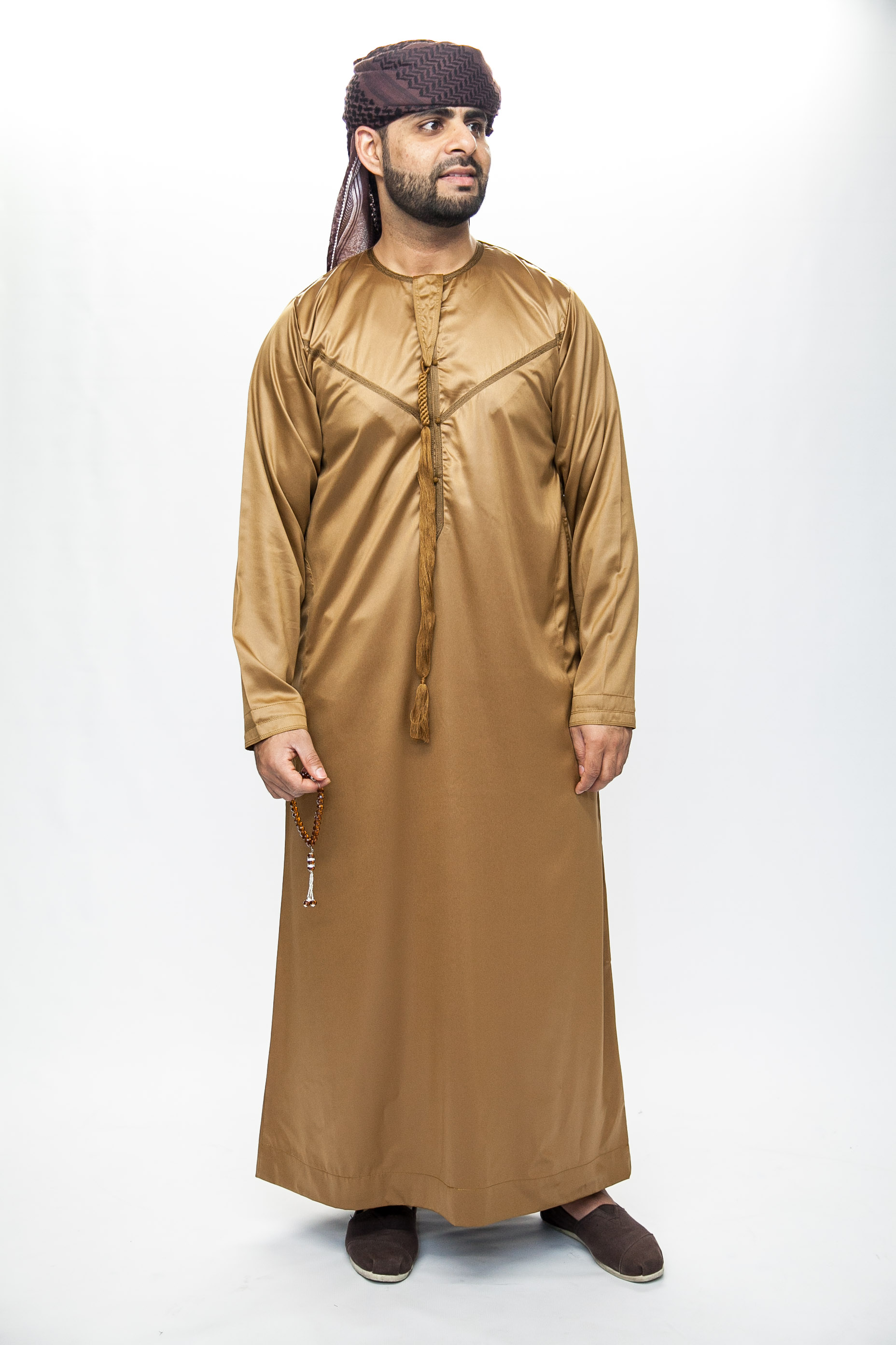 New Brown Omani Mens Jubba Thobe