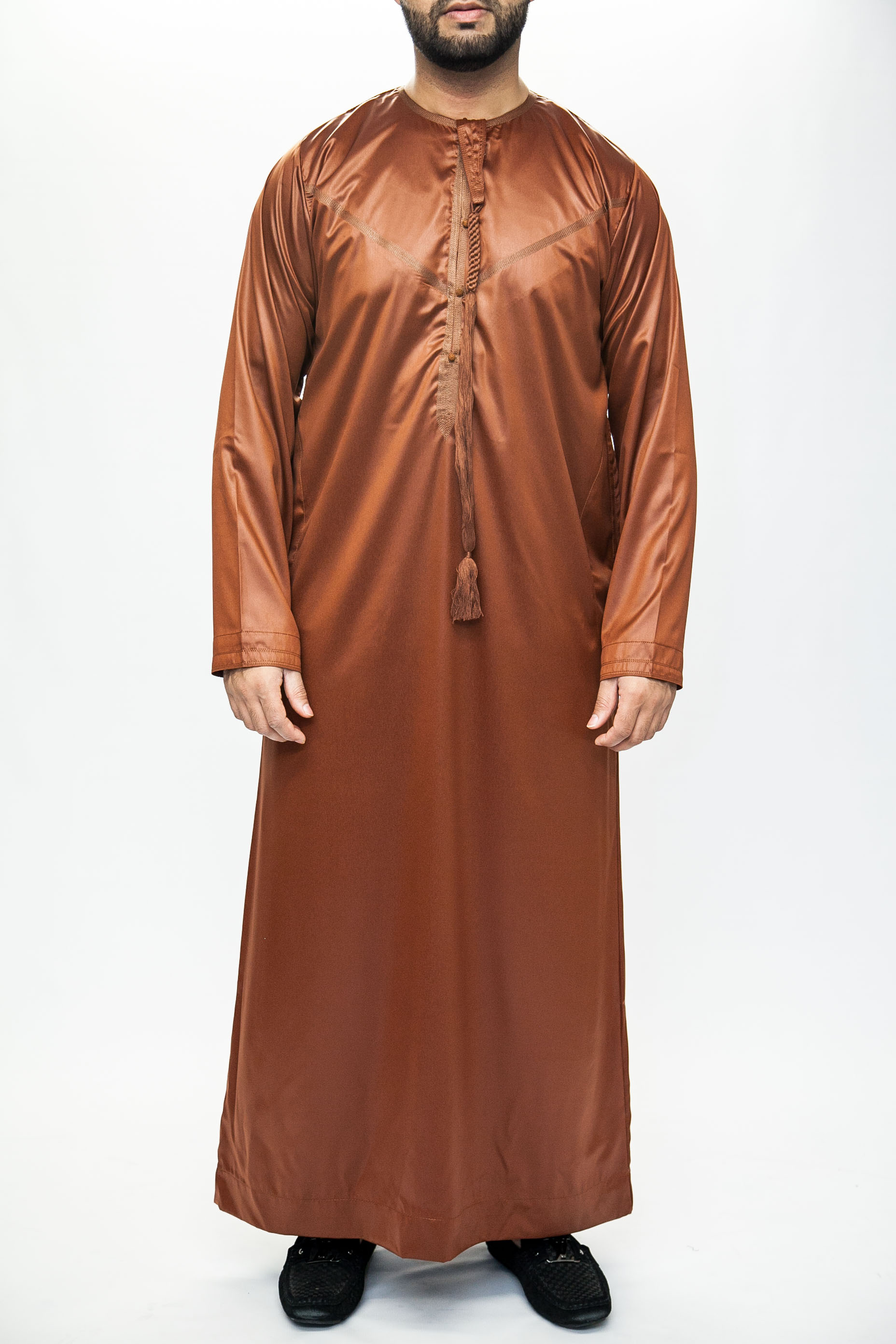 New Dark Orange Omani Mens Jubba Thobe