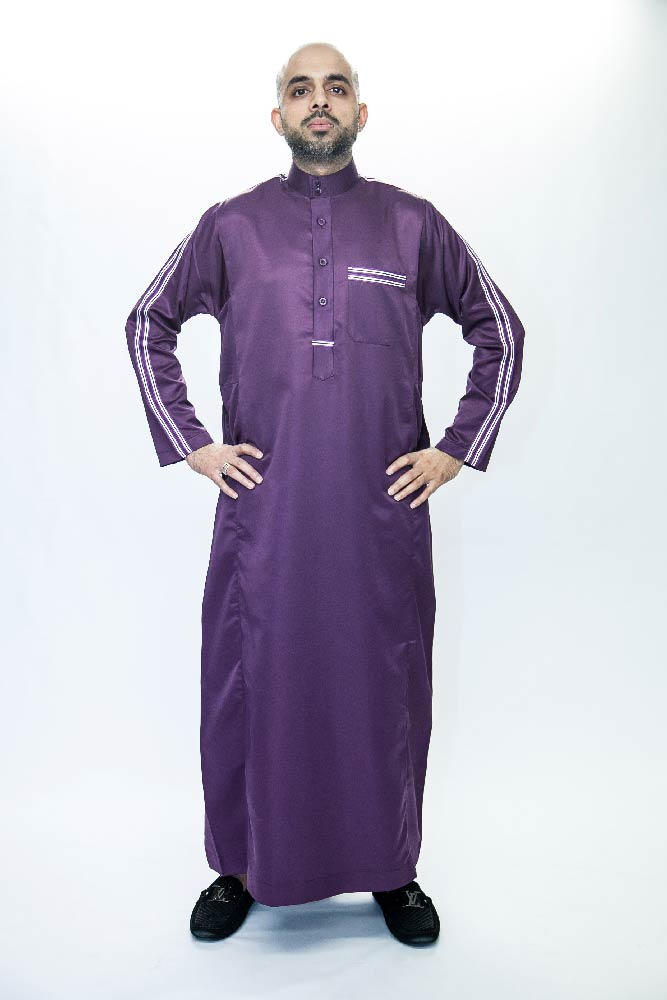 New Purple Jersey Muslim Jubba Thobe
