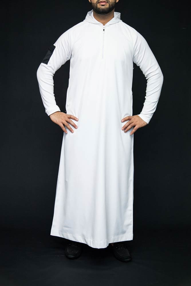 New White Hooded Mens Jubbah