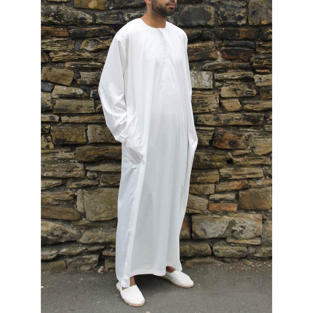 Off White Omani Shiny Jubba