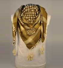 Olive And Cream Palestinian Scarf Keffiyeh