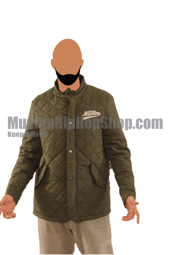 Olive Stylish Muslim Jacket