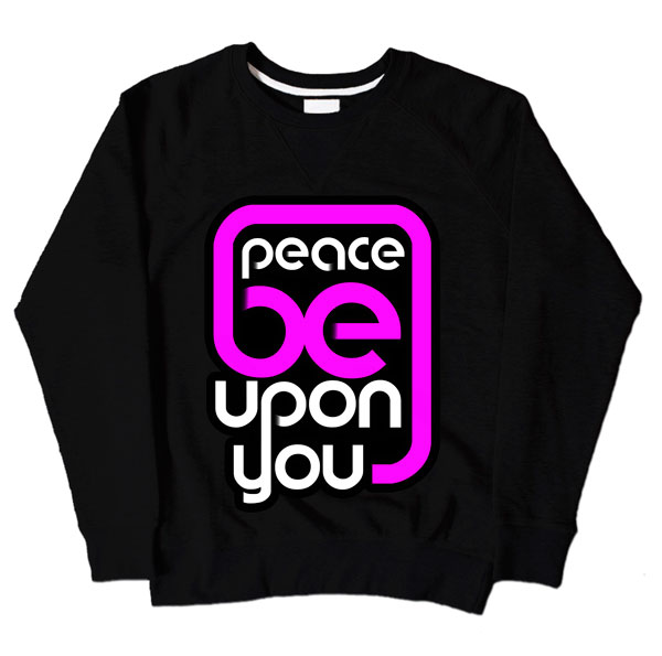 Peace Be Upon You Black Sweatshirt