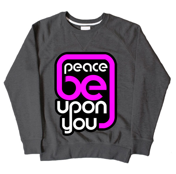 Peace Be Upon You Dark Grey Sweatshirt