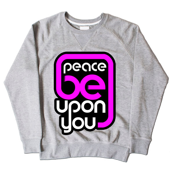Peace Be Upon You Grey Sweatshirt