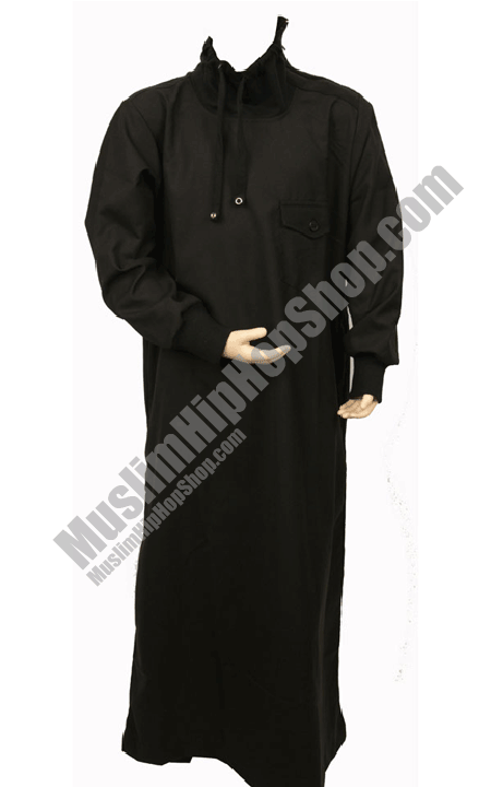 Polo Neck black designer jubbah