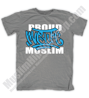 Proud Muslim Graffity Grey T-shirt