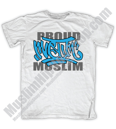Proud Muslim Graffity White T-shirt