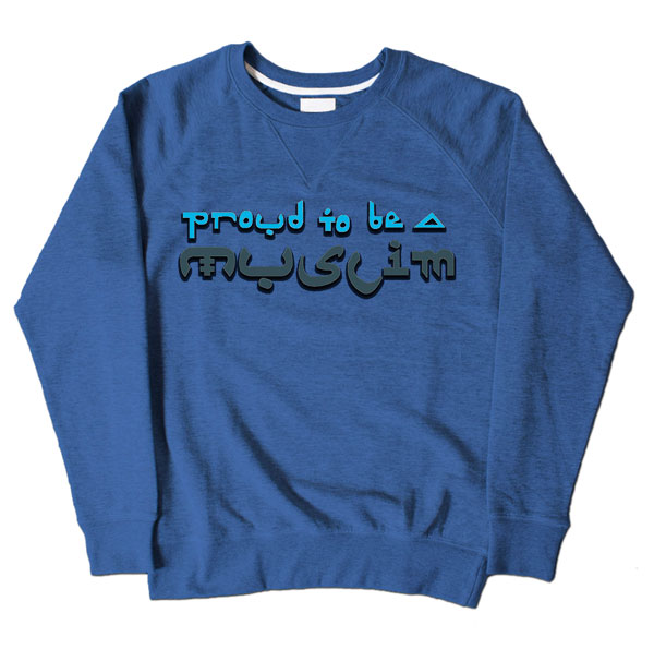 Proud Muslim Graffiti Blue Sweatshirt