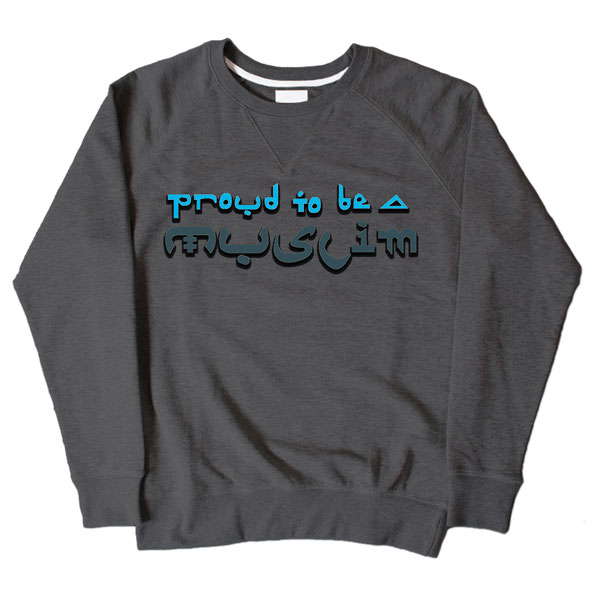 Proud Muslim Graffiti Dark Grey Sweatshirt