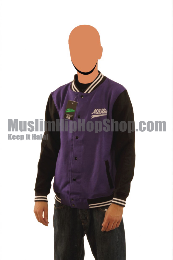 Purple Black Islamic Baseball Jacket