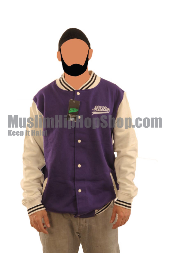 Purple Grey Islamic Baseball Jacket