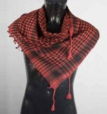 Red and Black Palestinian Scarf keffiyeh