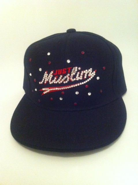 Red Design Black Muslim Cap