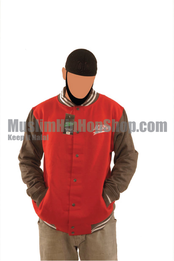 Red Grey Islamic Baseball Jacket