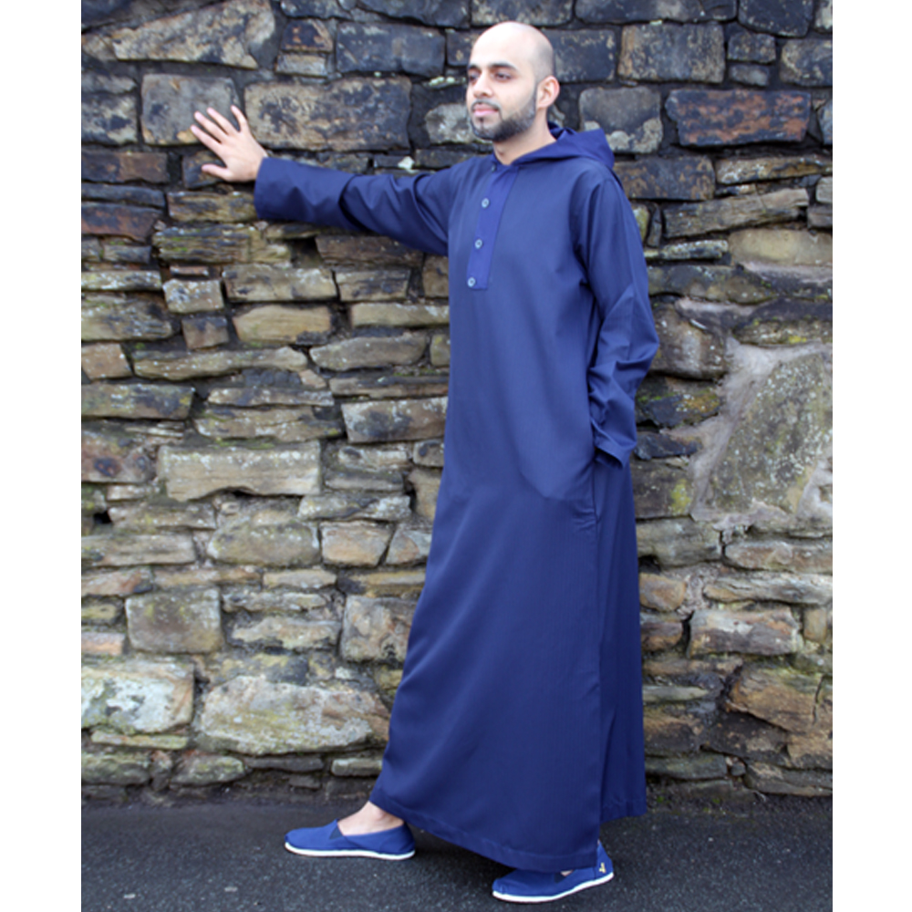 Royal Blue Hooded Thobe