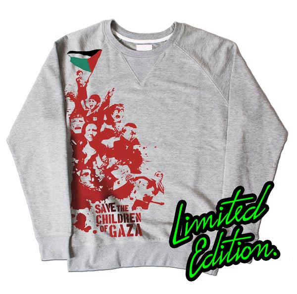 Save Children Of Gaza Grey Sweatshirt