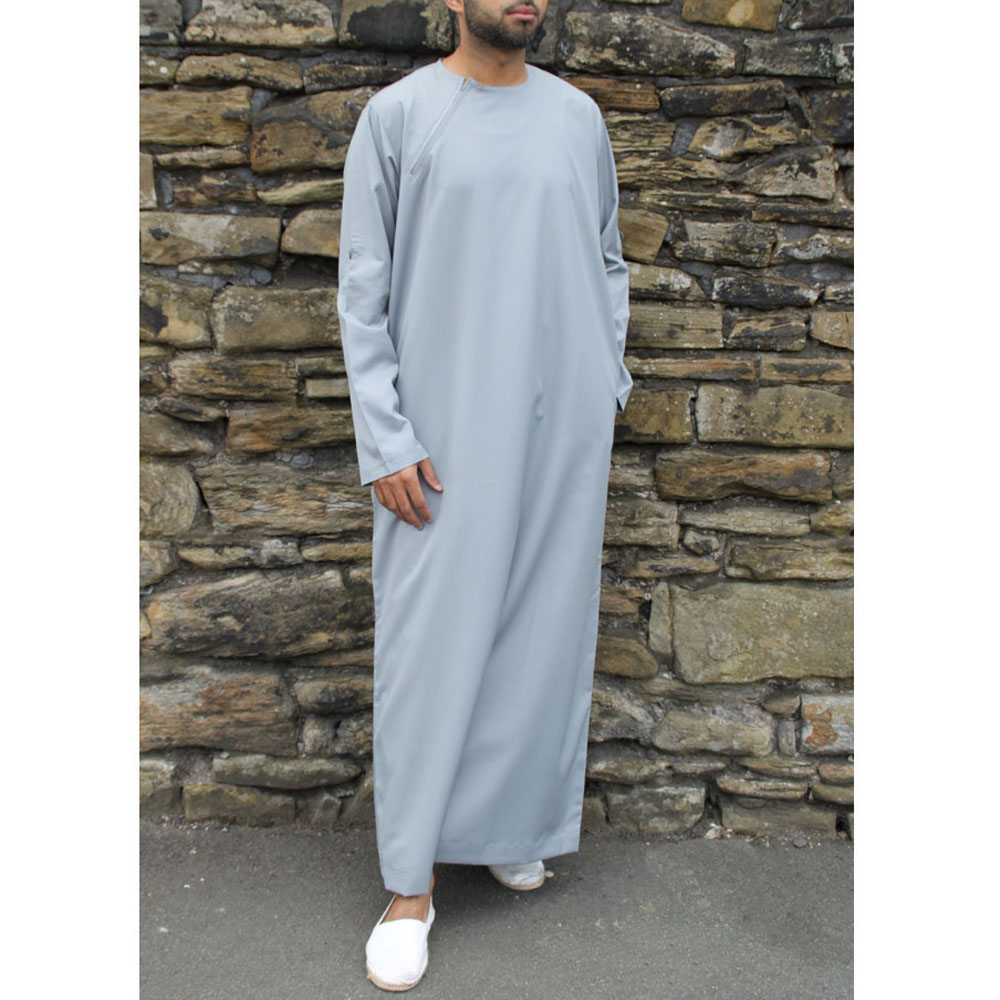 Slate Grey Roll Down Islamic Jubba