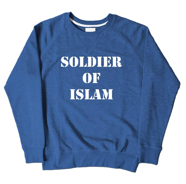 Soldier Of Islam Blue Sweatshirt