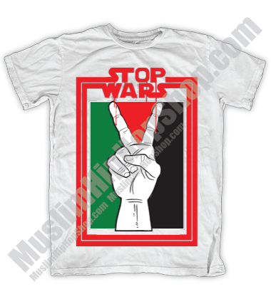 Stop War In Palestine White Muslim Tee