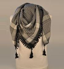 Urban Black And White Palestinian Arab Scarf Keffiyeh